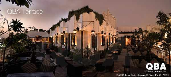 QBA Connaught Place terrace
