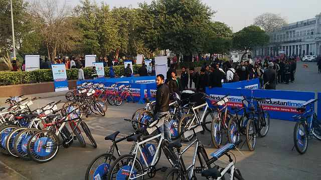 Cycles at Raahgiri Connaught Place
