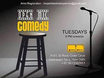 Pebble Street Open Mic - Comedy MyConnaughtplace