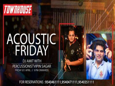 ACOUSTIC Friday with percussionist and DJ Amit MyConnaughtplace