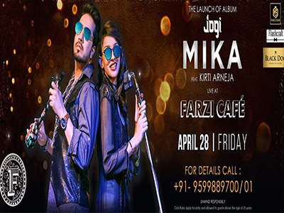 Mika LIVE at Farzi Cafe! MyConnaughtplace